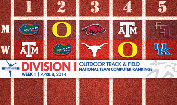 Florida Men Take Over Top Spot in Division I Outdoor T&F National Team Rankings