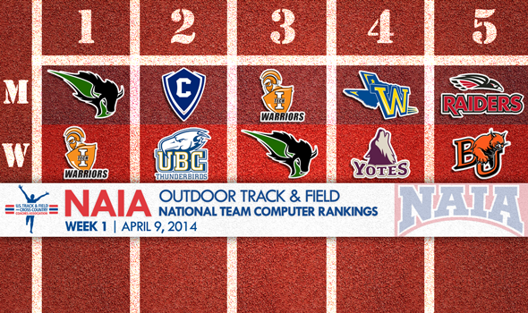 Oklahoma Baptist Men & Indiana Tech Women No. 1 in Inaugural NAIA Outdoor National Team Rankings