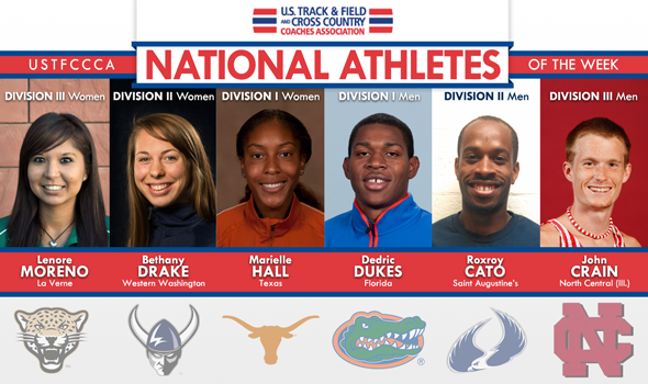 World-Leading Dukes & Cato Among the National Athletes of the Week