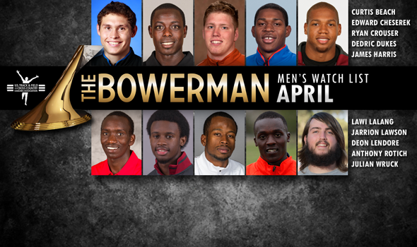 Sprinters Off to a Fast Start on The Bowerman Men's Watch List for April