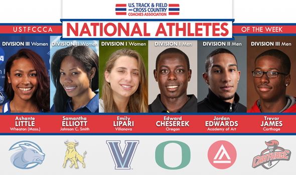Relay Heroes and Record Breakers Earn Outdoor T&F National Athlete of the Week Honors