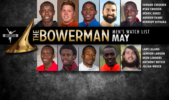 Individual Rivalries Prominent in The Bowerman Men's Watch List for May