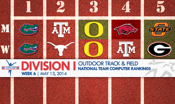 Division I Outdoor T&F National Team Rankings Set Up Exciting Conference Championship Weekend