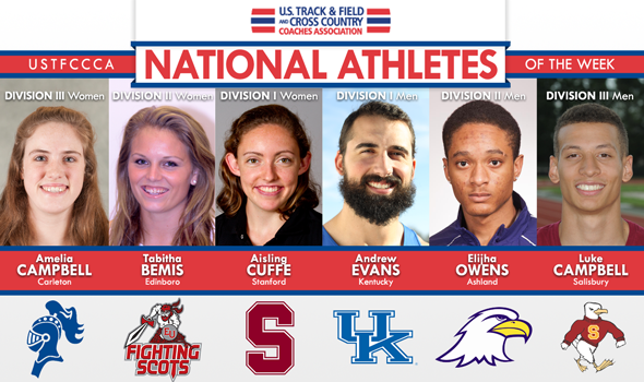 Evans & Cuffe Surpass National Champions for National Athlete of the Week Honors