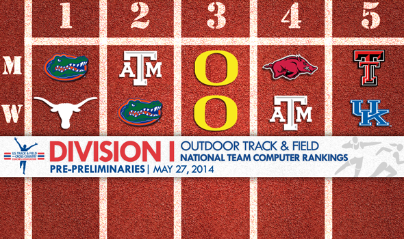 Florida Men & Texas Women Projected as Team Title Favorites Heading Into NCAA Prelims