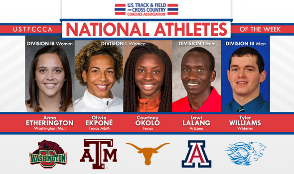 National Athletes of the Week Provide Fireworks for 2014 Outdoor T&F Regular Season Finale