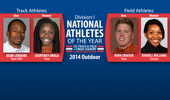 Lendore, Okolo, Crouser & Williams Named National Athletes of the Year for Division I Outdoor T&F