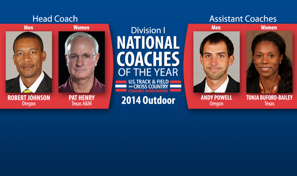 Johnson, Henry, Powell & Buford-Bailey Named National Coaches of the Year for Division I Outdoor T&F