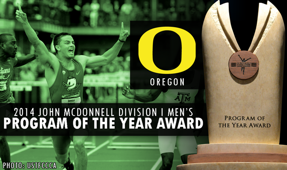 Oregon Men Earn John McDonnell Division I Men's Program of the Year Award with T&F Team Title Sweep