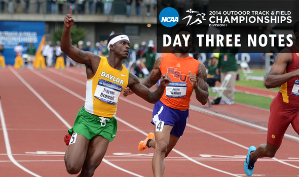 Day Three Notes – NCAA Division I Outdoor T&F Championships
