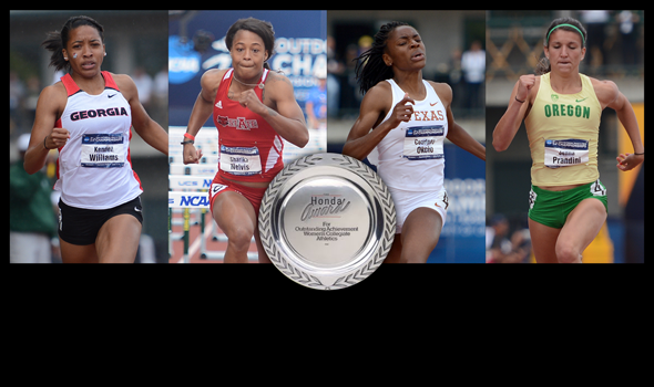 Nelvis, Okolo, Prandini & Williams Nominated for Honda Sports Award for Women's T&F