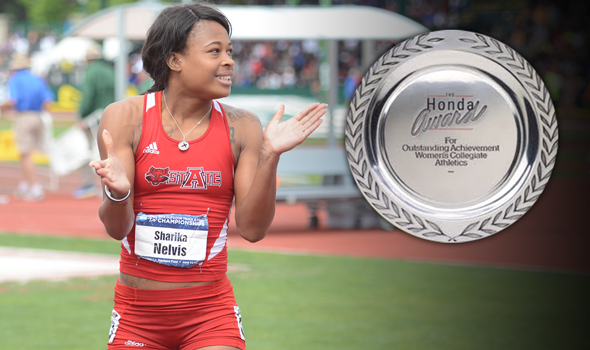 Nelvis of Arkansas State Named 2014 Honda Sport Award Winner for T&F