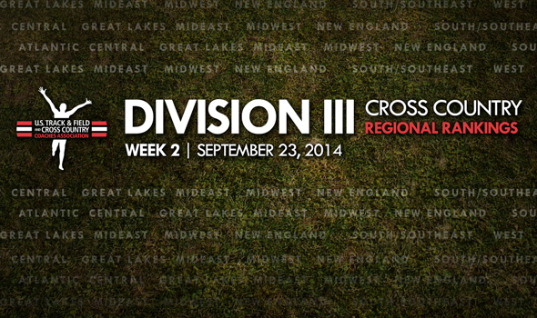 Midwest Region Shuffle Headlines Week Two Division III XC Regional Team Rankings