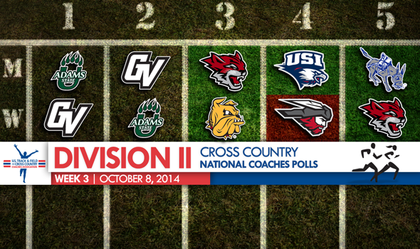Big Changes in Week Three Atop the Division II Cross Country National Polls