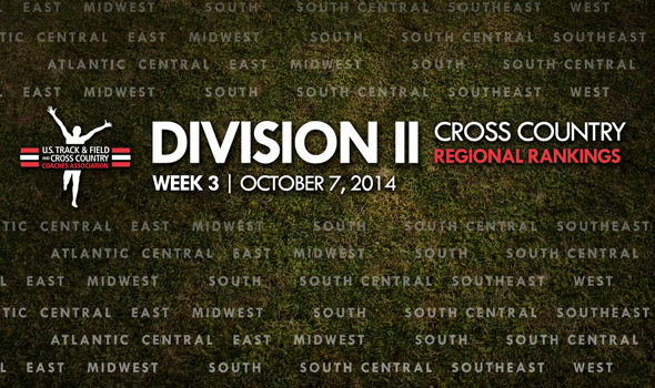 South Central Region Among Those Shuffled in Week Three Division II XC Regional Rankings