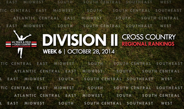 Final Regular-Season Division II XC Regional Rankings Include a New No. 1