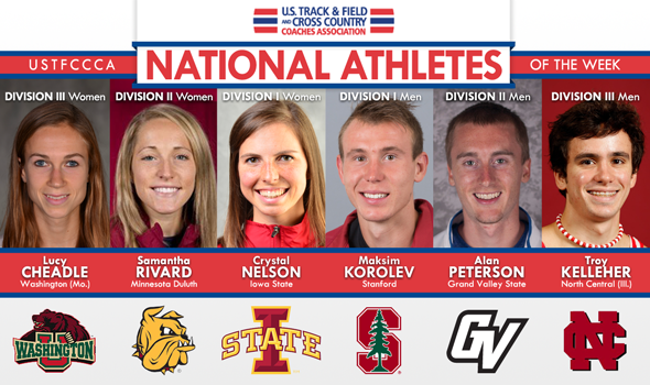 Exceptional Performances in Wisconsin Earn National Athlete of the Week Honors