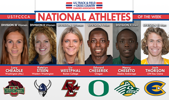 Six Conference Champions Honored as National Athletes of the Week