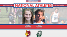 DII Conference Champs Stevens and Hovind Honored as National Athletes of the Week
