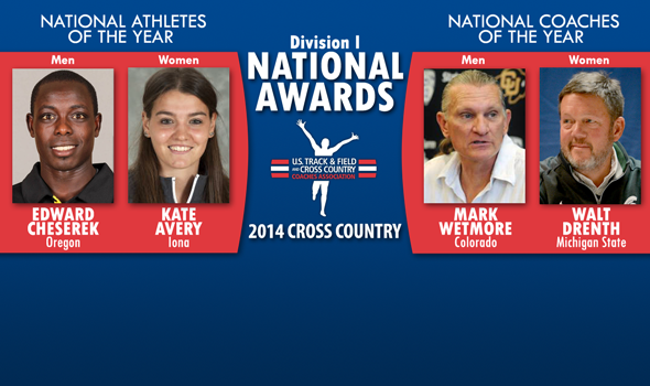 Cheserek, Avery, Wetmore & Drenth Earn National Awards for Division I Cross Country