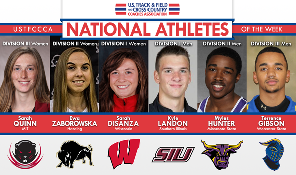 Season's First National Athletes of the Week Feature Fast Women's Distance and Men's Hurdles