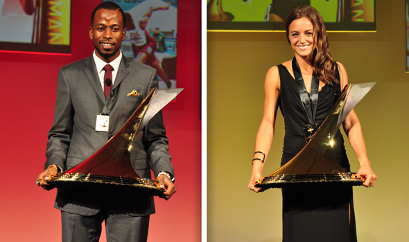 Laura Roesler & Deon Lendore Honored with 2014 Bowerman Trophies