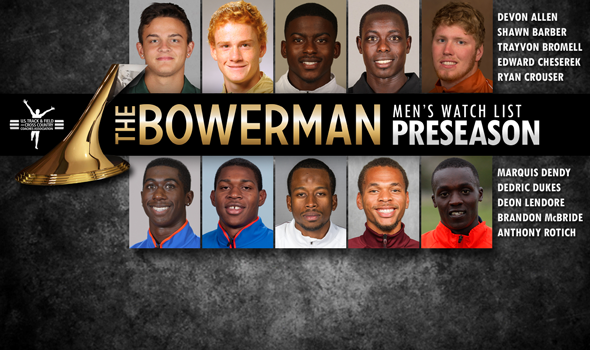 Reigning The Bowerman Trophy Winner Lendore Headlines Preseason Men's Watch List