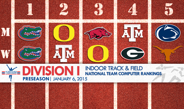 NCAA Division I Preseason Indoor Track & Field Computer Rankings Unveiled