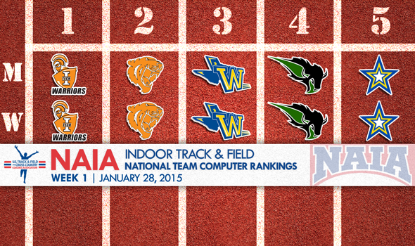 Indiana Tech Men & Women Lead First NAIA Indoor T&F  National Rankings of 2015
