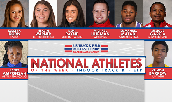 Record-Breakers Payne and Lihrman Lead National Athlete of the Week Selections