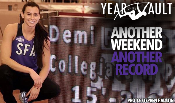 BY THE NUMBERS: Another Weekend, Another Record for Stephen F. Austin Vaulter Demi Payne
