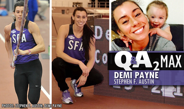 QA₂ Max PODCAST: Demi Payne of Stephen F. Austin – Collegiate Pole Vault Record Holder & Mother