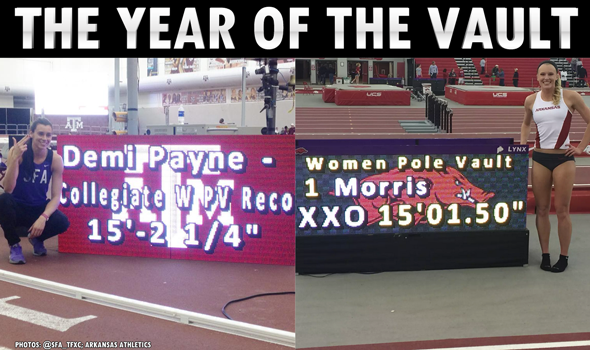 The Year of the Vault: How the Women's Collegiate Indoor Pole Vault Record Fell Twice in One Weekend