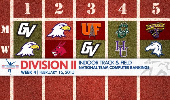 GLIAC Sweeps No. 1 Spots in Week 4 NCAA Division II Indoor T&F National Rankings
