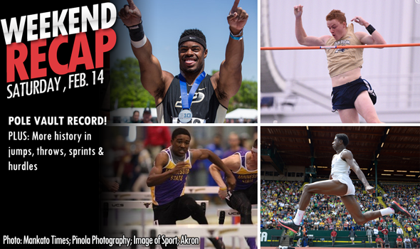 #DidYouSeeThat Recap: Barber Re-Breaks Pole Vault Record & More History From Enekwechi, Dendy & Saunders