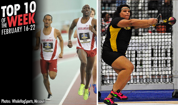 Best Marks of the College T&F Weekend: February 16-22