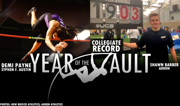 Year Of The Vault: Barber Breaks the Men's Collegiate Record; Payne Wins Historic Showdown
