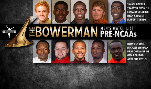Pre-NCAA Indoor Championships Edition of The Bowerman Men's Watch List Adds McLeod