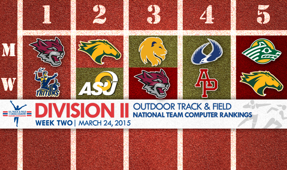 Week Two NCAA DII Outdoor T&F National Team Rankings
