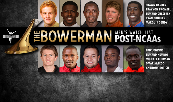 Post-Indoor T&F Men's Bowerman Trophy Watch List Unveiled