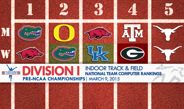 Final National Team Rankings Announced Ahead of NCAA Division I Indoor Championships
