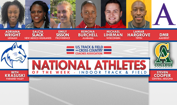Five Record-Setters Among Conference Weekend National Athletes of the Week