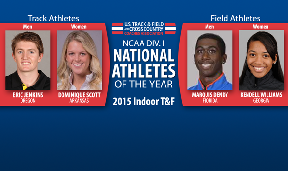 Jenkins, Dendy, Scott, and Williams Voted Division I Indoor Athletes of the Year