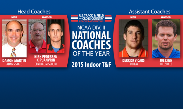 Martin, Petersen & Janvrin, Vicars, and Lynn Named Division II Indoor National Coaches of the Year