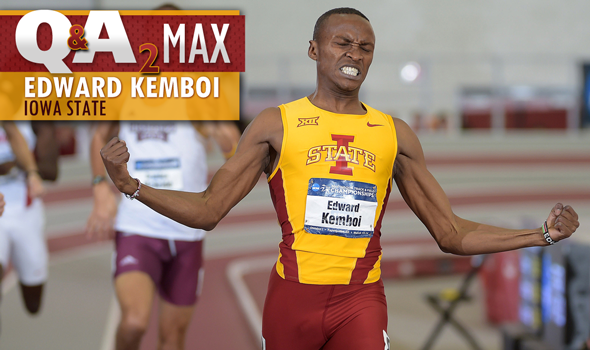 QA₂ Max Interview: NCAA 800 Meter Champ Edward Kemboi of Iowa State