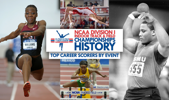 CHAMPIONSHIPS HISTORY: Top NCAA DI Indoor Career Scorers By Event