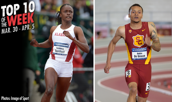 Best Marks of the College T&F Weekend: March 30-April 5