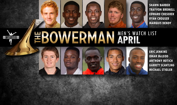 First Outdoor Bowerman Trophy Watch List Adds Early-Season Standouts