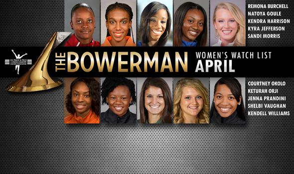 Orji & Vaughan Rejoin First Outdoor Bowerman Trophy Women's Watch List