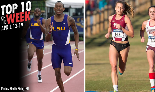Best Marks of the College T&F Weekend: April 13-19